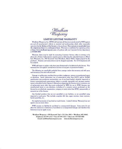 warranty certificate templates  premium samples
