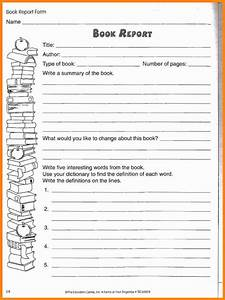 5 4th grade book report template driver resume for Fourth grade book report template