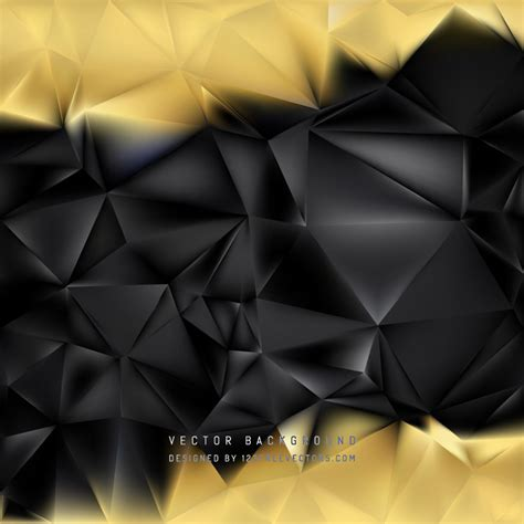 Abstract Black Background Design by Abstract Black Gold Polygonal Background Design