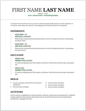 Templates For Resumes Microsoft Word 25 free resume templates for microsoft word how to make