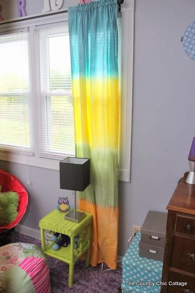 Tie Dye Drapes - diy tie dye curtains the country chic cottage