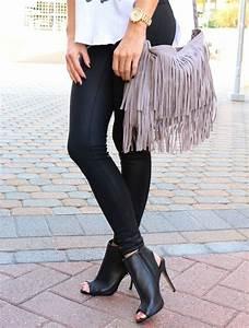 | Leather Leggings u0026 Peep Toe Booties | | Fashion. Style. Inspiration. X | Pinterest | Bags ...