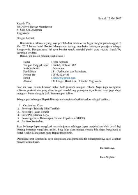 contoh surat permohonan izin kerja contoh surat