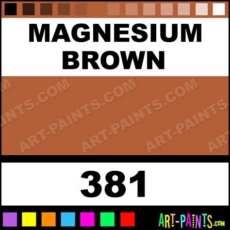 color of magnesium magnesium brown artists watercolor paints 381