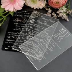 acrylic wedding invitations 11b engraved acrylic wedding invitations unique wedding invitations engraved wedding