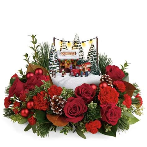 christmas centerpieces delivered kinkade flower centerpiece at send flowers