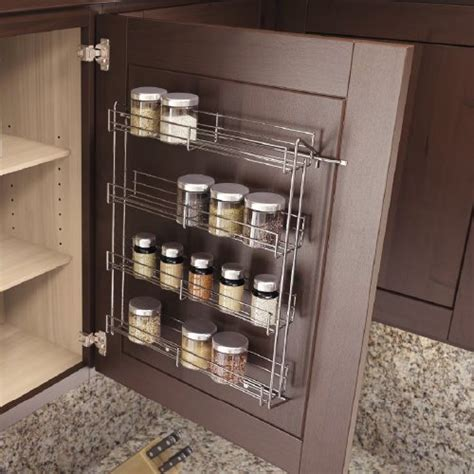chrome kitchen storage racks vauth sagel spice rack 14 1 8 inch w x 18 inch h chrome 5421