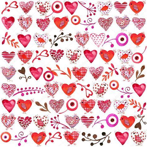 Fond Saint-Valentin. Aquarelle Valentines fond. fleurs et ...