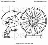 Wheel Spinning Cartoon Boy Outline Toonaday Clipart sketch template