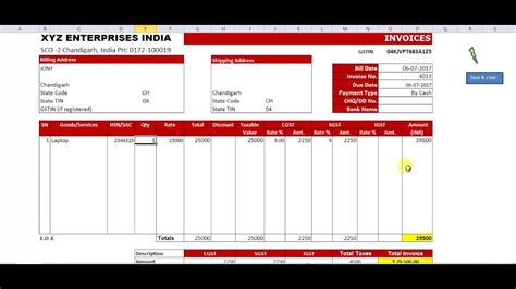 Excel Gst Billing Software  How To Create Sale Invoice In