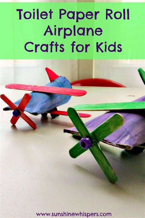 toilet paper roll airplane crafts  kids toilet paper
