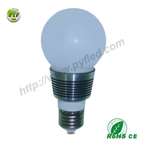 high heat dissipation 3w e14 led light bulbs pyf bbl009 3