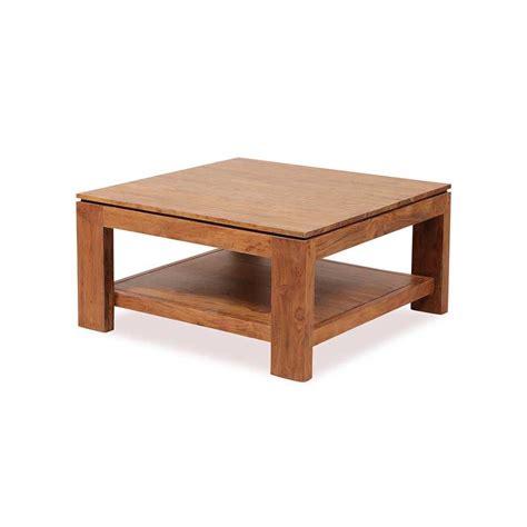 chariot cuisine table basse carrée bois guntur 90 cm 3505