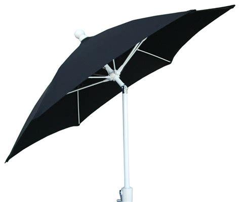 7 5 ft hexagon black patio umbrella with white aluminum
