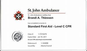 First Aid Certificate St John