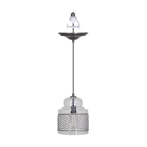 pendant light conversion kit home decorators collection sutton 1 light clear and metal