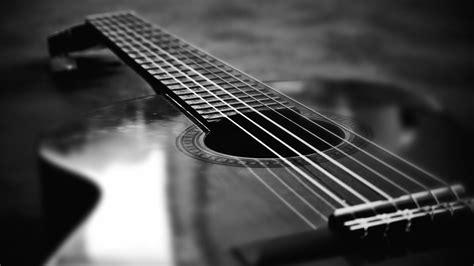 acoustic guitar black  white wallpapers hd wallpaperwiki
