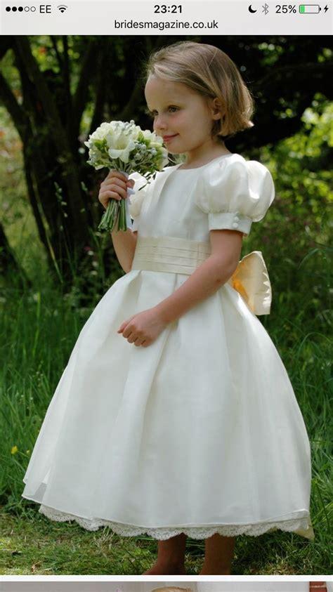 classic puff sleeve flower girl dress wedding ideas