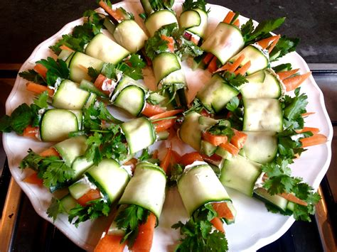 traditional canapes veggie wrap canapés yes