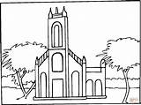 Town Clipart Abbaye Synagogue Coloring Pages Abbey Coloriage Ville Template Supercoloring sketch template