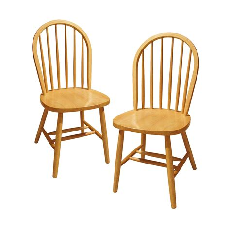 winsome wood windsor chair natural set   amazonca