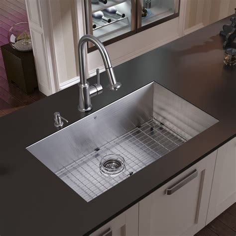 modern kitchen sinks images vigo undermount stainless steel kitchen sink faucet grid
