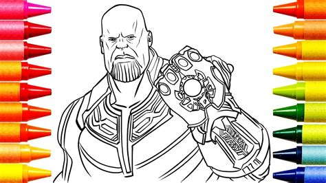 coloring pages avengers thanos coloring   kids