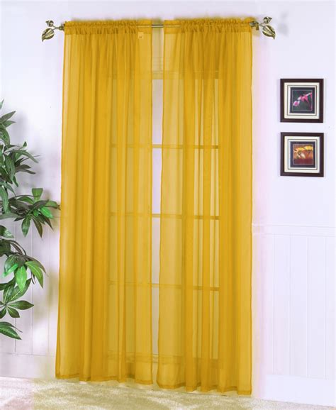 yellow sheer curtains sheer abby curtain colors