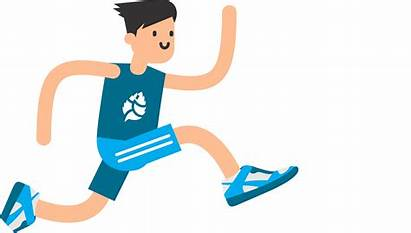 Clipart Athletic Running Jumping Person Transparent Arms