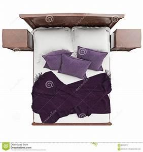 Bett Mit Kissen : bett mit kissen und deckenabdeckung draufsicht stock abbildung illustration von nachrichten ~ Yasmunasinghe.com Haus und Dekorationen