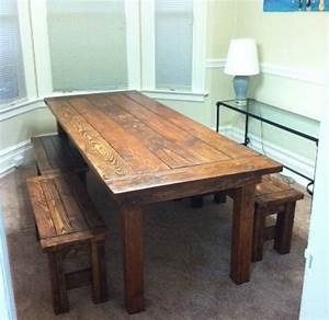 Ana White Farm House Table and Benches - DIY Projects
