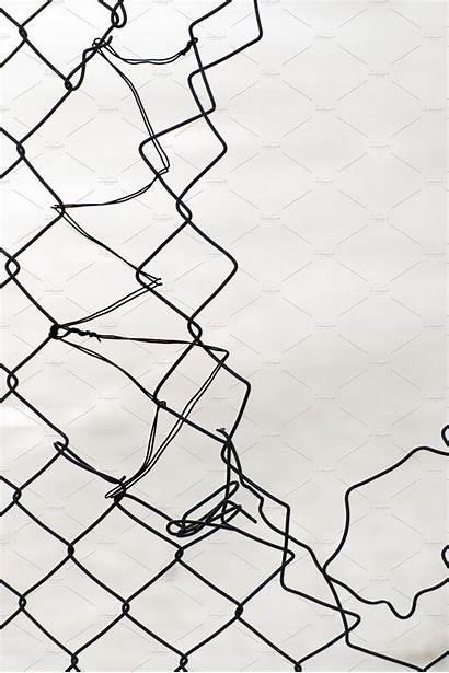 Fence Chain Broken Link Wire Chainlink Rete