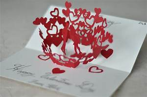 Kissing Couple Pop Up Card Template