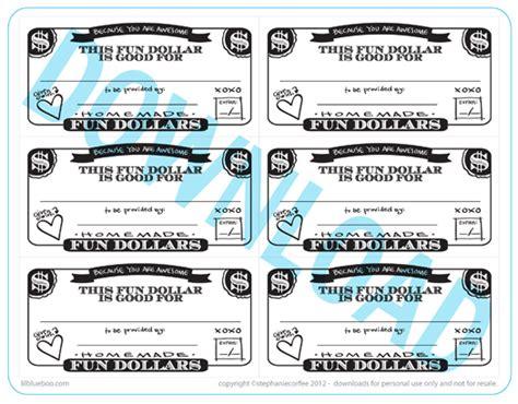 Fun Dollar Coupons  A Free Printable