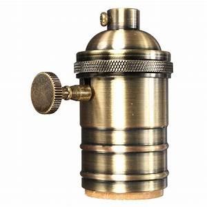 Vintage Fassung E27 : details zu e27 e26 lampenfassung sockel fassung socket vintage lampe halter pendelleuchte ~ Markanthonyermac.com Haus und Dekorationen