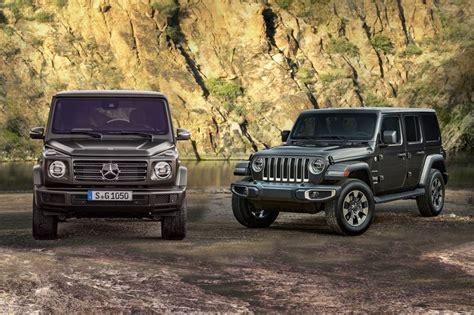G Wagon Vs Jeep by 2019 Mercedes G Class Vs Jeep Wrangler Static Comparison