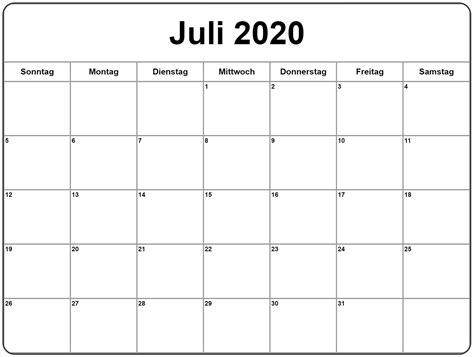 kalender juli zum ausdrucken excel kalender