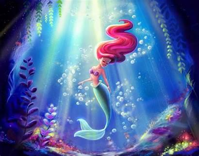 Mermaid Mermaids Ariel Wallpapers Disney Background Backgrounds