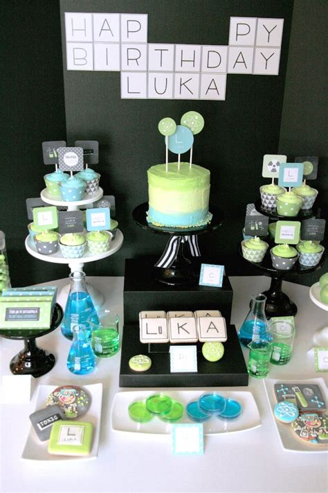 Kara's Party Ideas Junior Scientist Themed Birthday Party