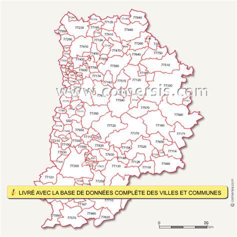 carte des codes postaux de seine et marne