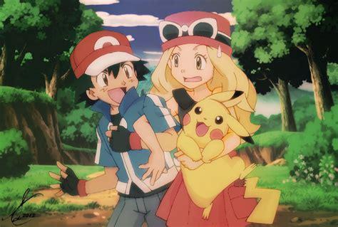 x y anime ash serena pikachu by sidselc on