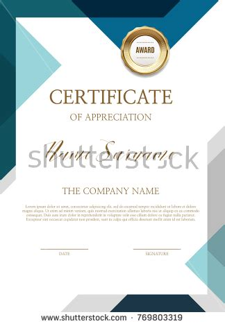 certificate simple background stock vector