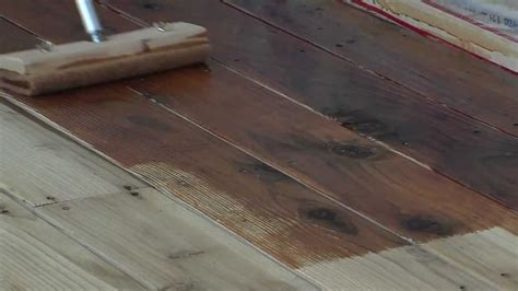 staining  wood deck  messmers uv  youtube