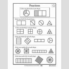 1st Grade, 2nd Grade, 3rd Grade Math Worksheets Shape Fractions Greatschools