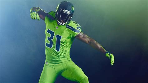 check   action green uniforms  seahawks