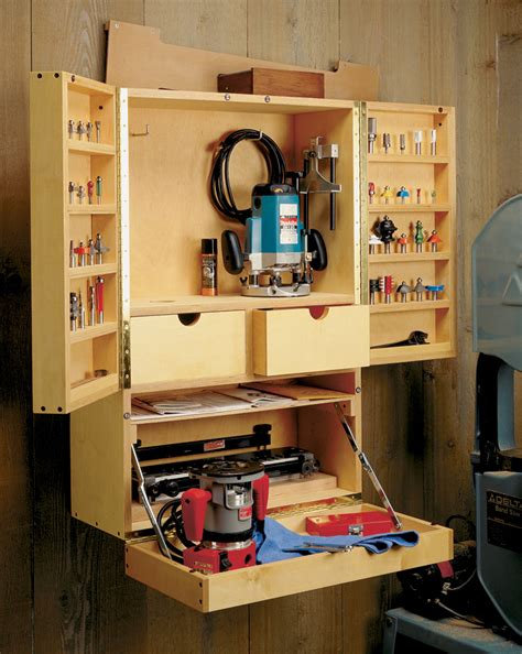 router bit cabinet woodworking project woodsmith plans