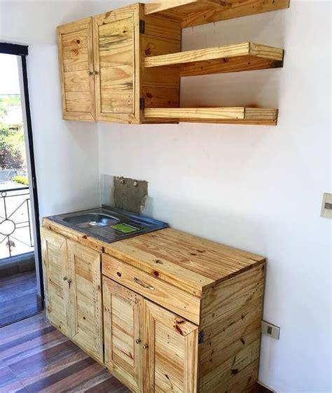 pallet kitchen cabinets wooden en  pinterest