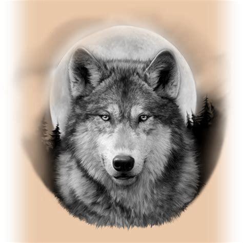 wolf tattos timber wolf moon  blinddog tattoo