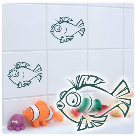 Aufkleber Bad by Fliesen Aufkleber Fische Fisch Wandtattoo Bad Maritim