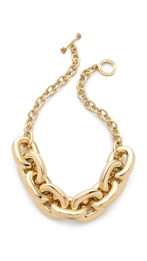 Juicy couture Chunky Link Necklace in Metallic